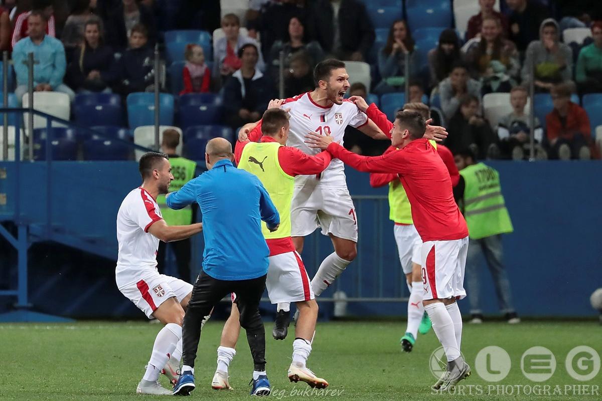 Футбол. Молодёжная сборная России уступила Сербии в Нижнем Новгороде.