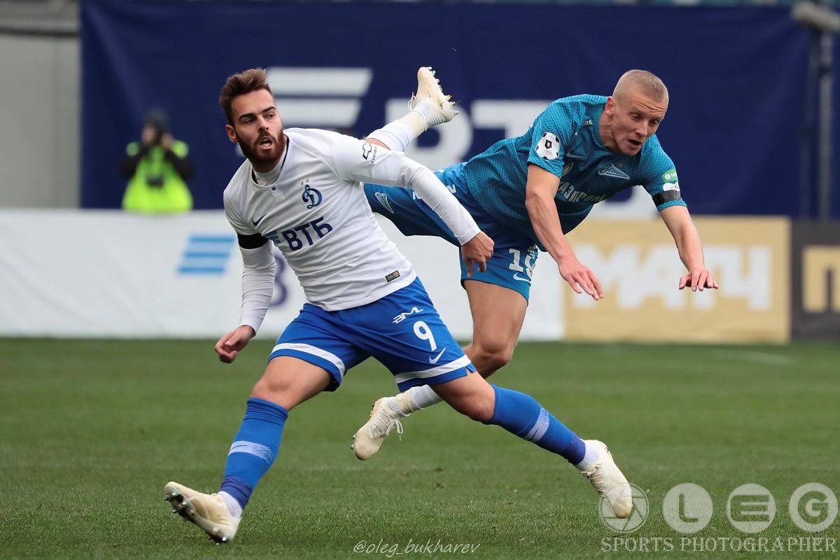 «Динамо» в большинстве одолело «Зенит».