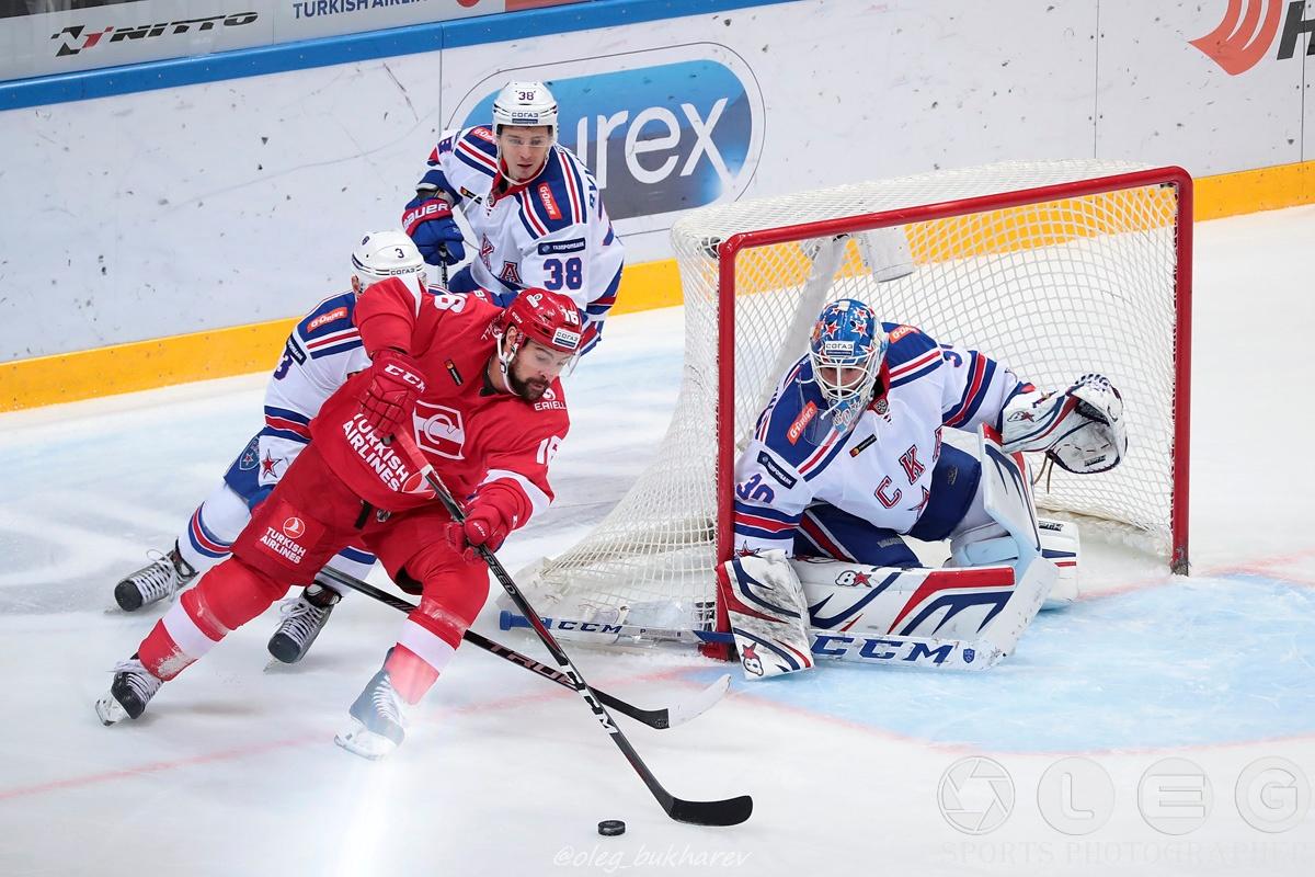 КХЛ: Безоговорочная победа СКА над «Спартаком» в дерби двух столиц.