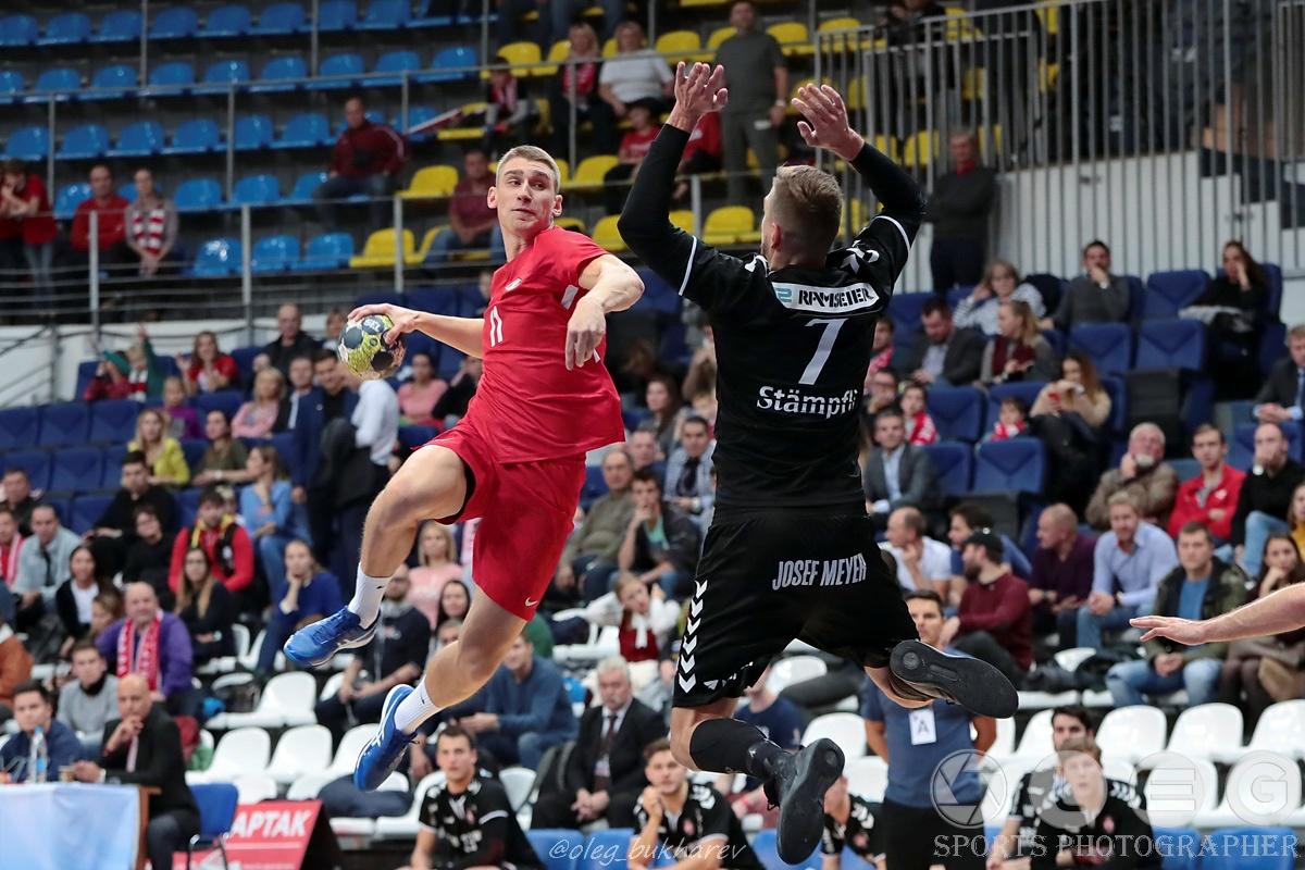 Гандбол. «Спартак» начал с победы в дебютном матче в Кубке ЕГФ.