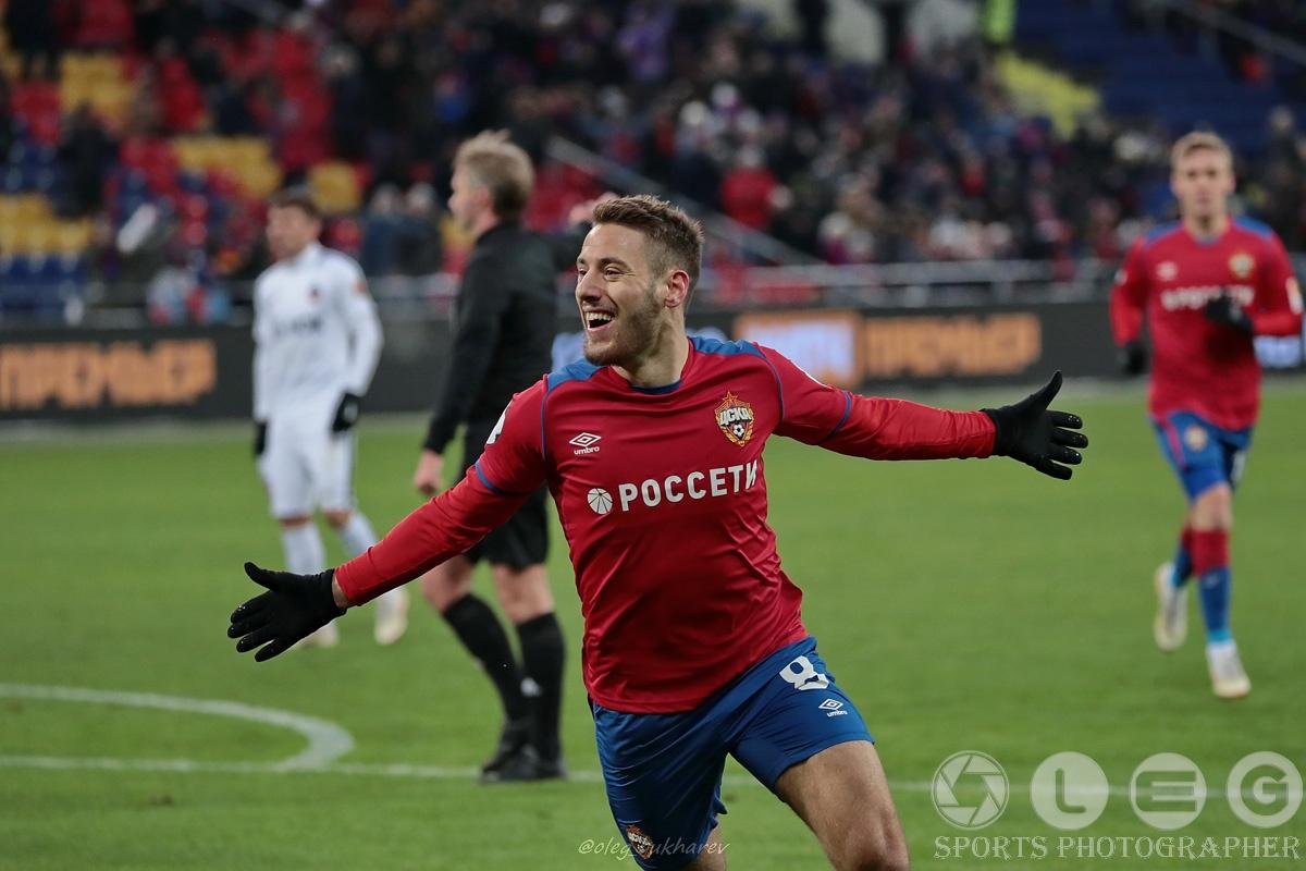 ЦСКА одержал нелёгкую победу над «Енисеем».