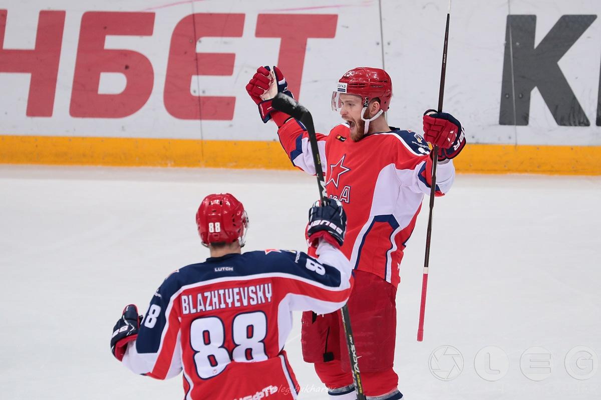 КХЛ. ЦСКА всухую обыгрывает «Металлург».