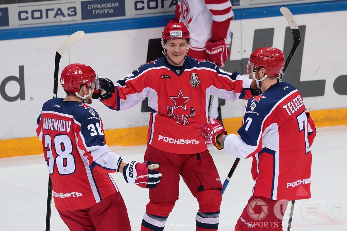 КХЛ. Армейцы стартовали в плей-офф с уверенной победы.